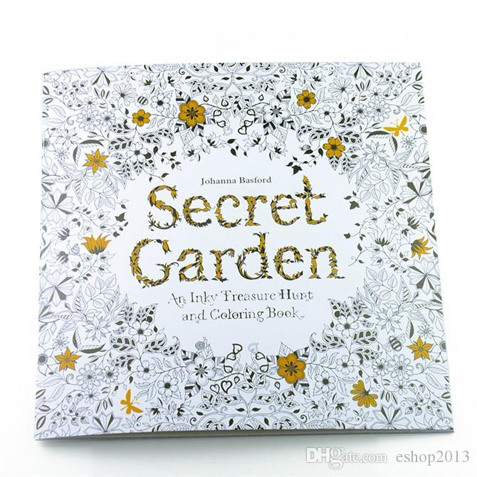 Hot Sale Secret Garden An Inky Treasure Hunt And Coloring Book For Children Adult Relieve Stress Kill Time Graffiti Painting Drawing Christmas