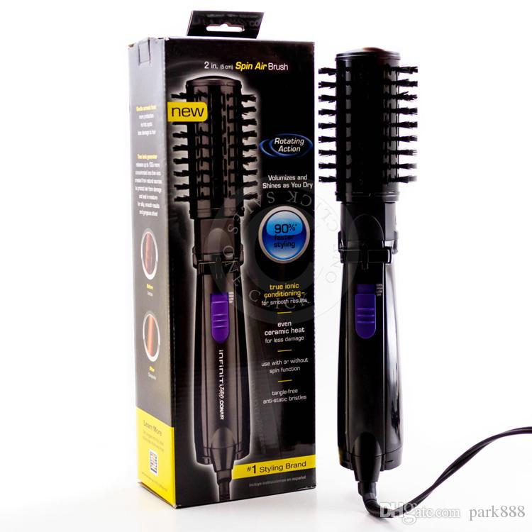 Ifiniti Pro Hot Air Spin Hair Styler Brush Ceramic Hair Brushes Electric 2 Inch Rotating Hair Styling Tools Comb US /UK /EU Plug