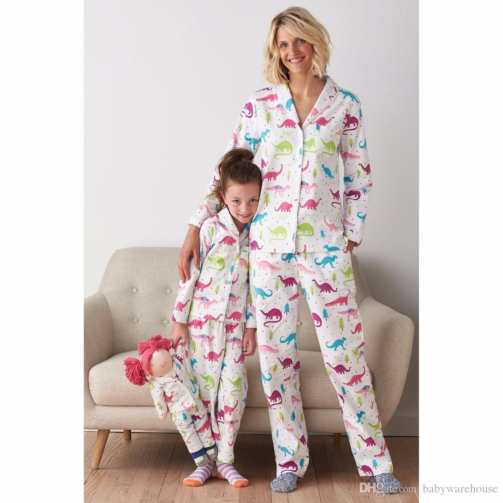 8e28ade2f8 Christmas Family Pajamas Dinosaurs Mother Daughter Pajamas Clothes Family  Clothing Sets Christmas Pajamas Sleepwear Clothing Family Outfits Matching  Family ...