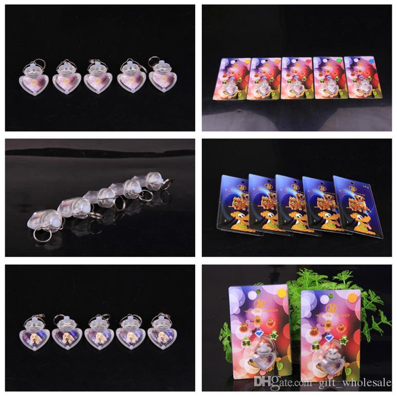 10шт зоотоваров для собак светодиодной форме сердца вспышка безопасности ночник клип безопасность кулон тег фары поворотник собак ошейники оборудования 6 цветов