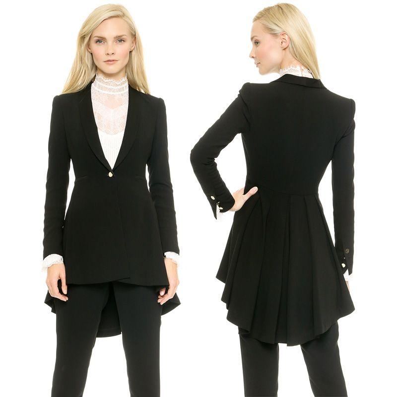 2017 2015 New Women Blazer Elegance Style Suit Folds Open