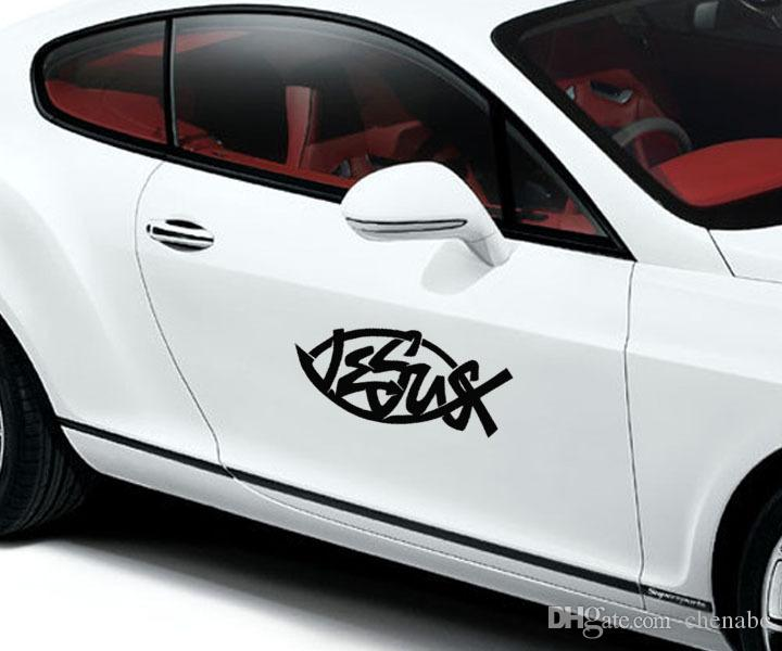 New Jesus Fish Car Sticker Design Vinyl Decals Creative Car - Car sticker design