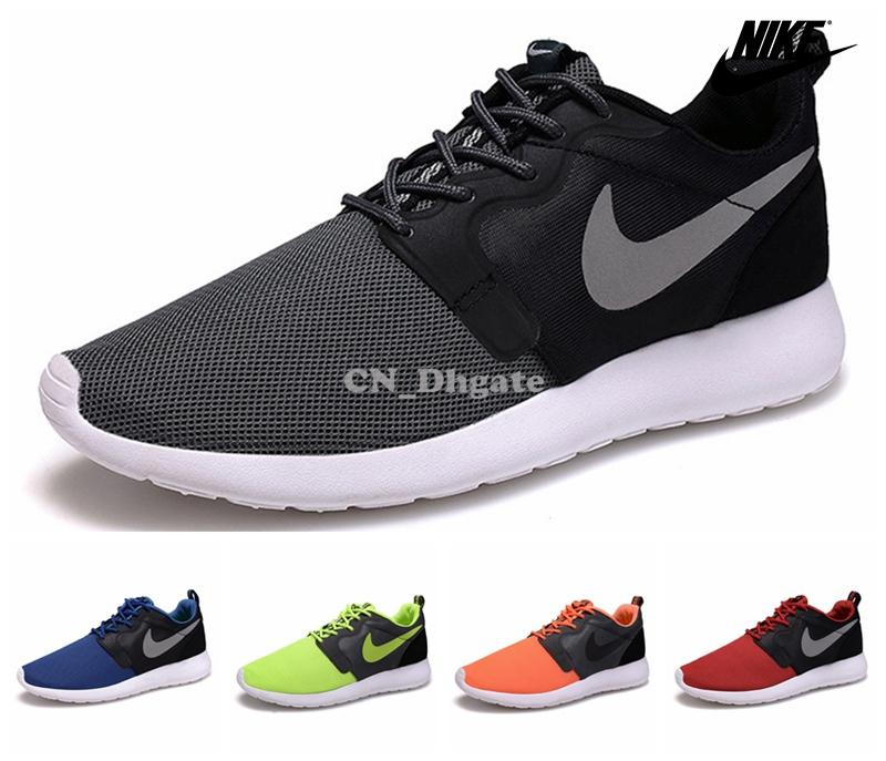 89b5a7cd977c Nike Roshe Run Men Black Mesh Dress Shoes