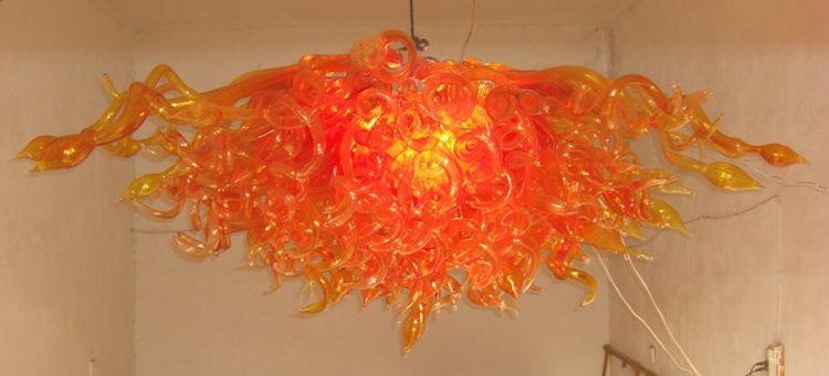 100% одобренный ul выдувного боросиликатного муранского стекла Дейл Чихули искусство известный стиль уникальный дизайн люстра