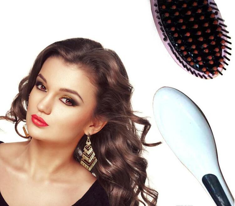 Star NASV fast Hair Straightener HQT-906 Straight Hair Styling Tool Straightening flat Irons LED Digital Temperature brush comb
