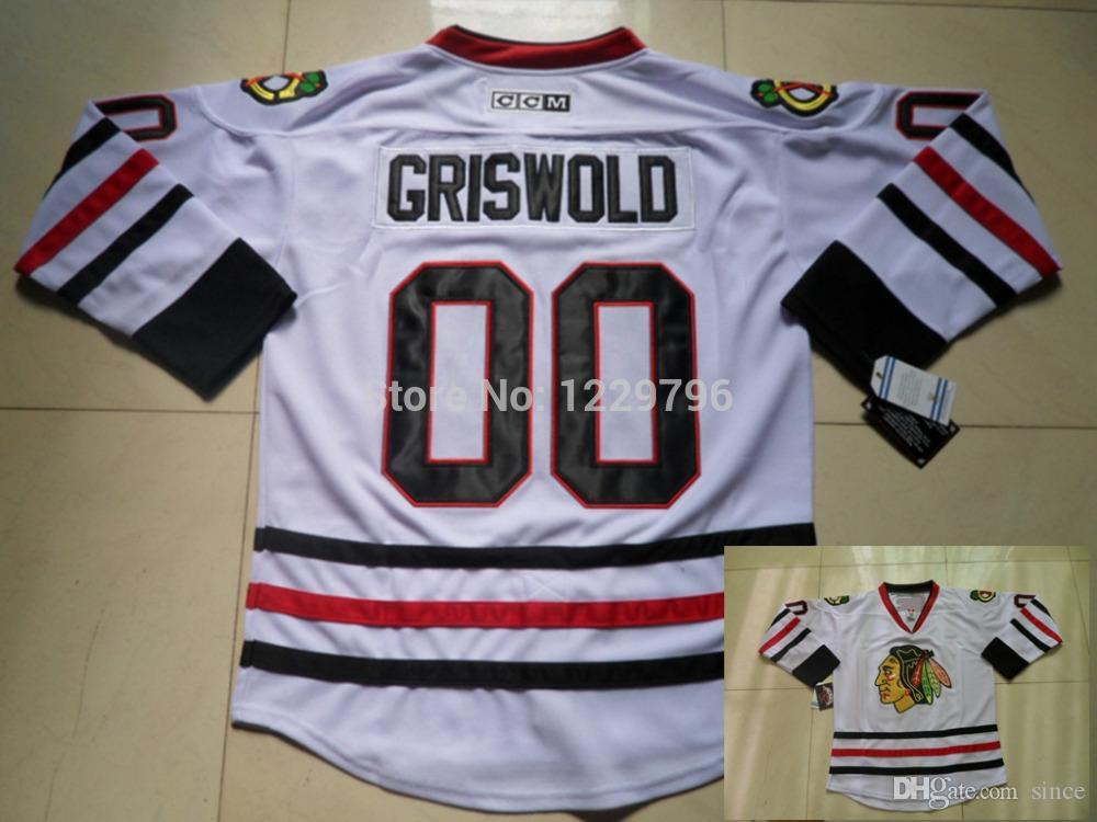 8acc4ce4c1d ... 2016 New, Mens Chicago Blackhawks Throwback Hockey Jerseys 00 Clark  Griswold Jersey Road White Throwback ...