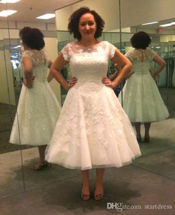 spain floral tea length wedding dress 5be41 a27bf