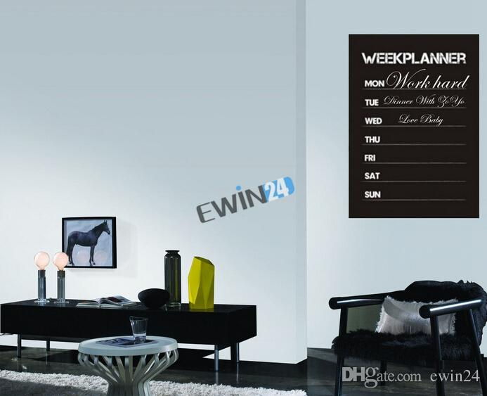 High Quality Week Planner Chalkboard Vinyl Planner For Office, Kitchen,  Bedroom, Student Chic Memo Board Flower Wall Decals Flower Wall Sticker  From Ewin24, ...