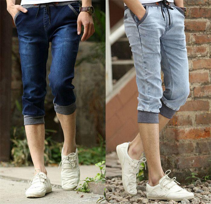 Online Cheap 2015 New Slim Fit Jeans Shorts Men Plus Size 27 36 ...