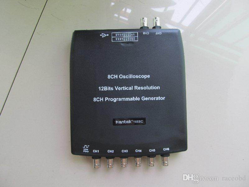 2017 Hantek osciloscopio digital 1008C Canal PC USB dhl envío gratis alta calidad super nueva versión