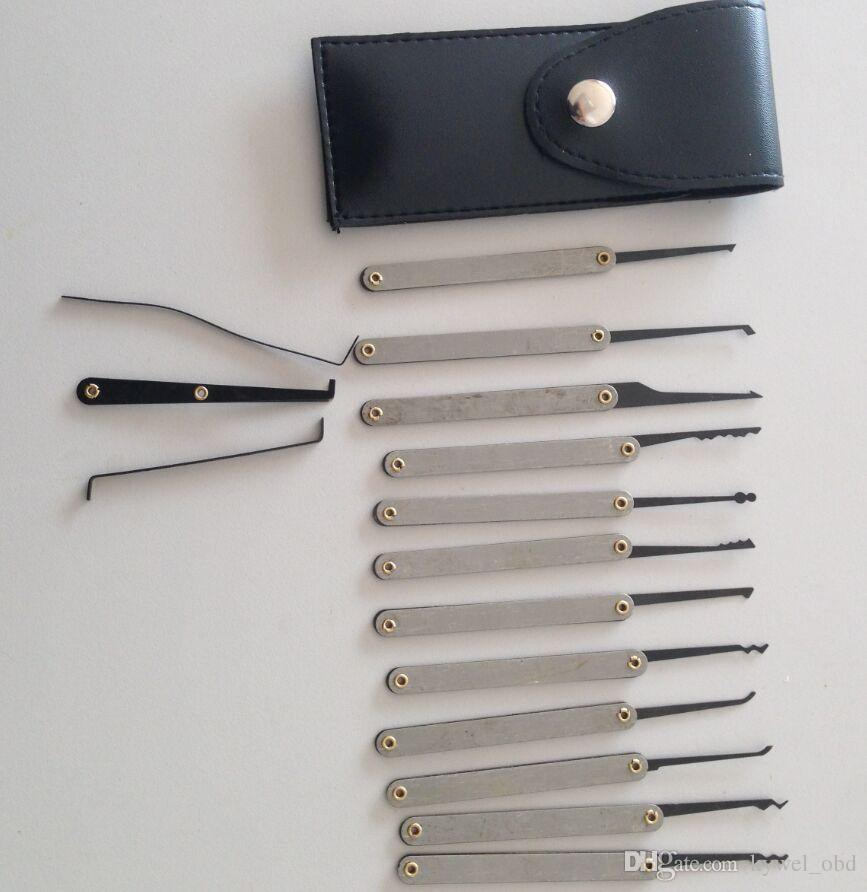 Venda quente Lock Picks Conjuntos Aço Inoxidável Removedor de Chaves Set Lockpick Serralheiro Ferramentas Bloqueio Abridor Desbloquear Porta frete grátis