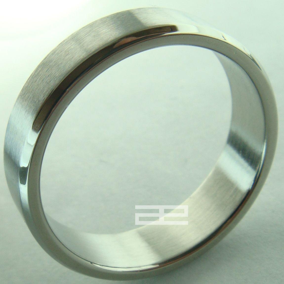 Tungsten Tone Stainless steel Men Women Ring SIZE 8-10 R92