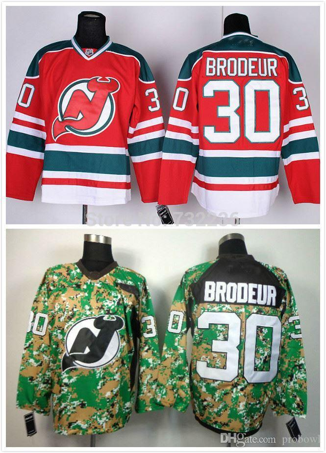 save off 01bdf a9495 30 Teams-Wholesale cheap stitched 2014 Hockey Jerseys New Jersey Devils 30  Martin Brodeur 3rd red/ camo Men's Wholesale Ice Hockey jerseys