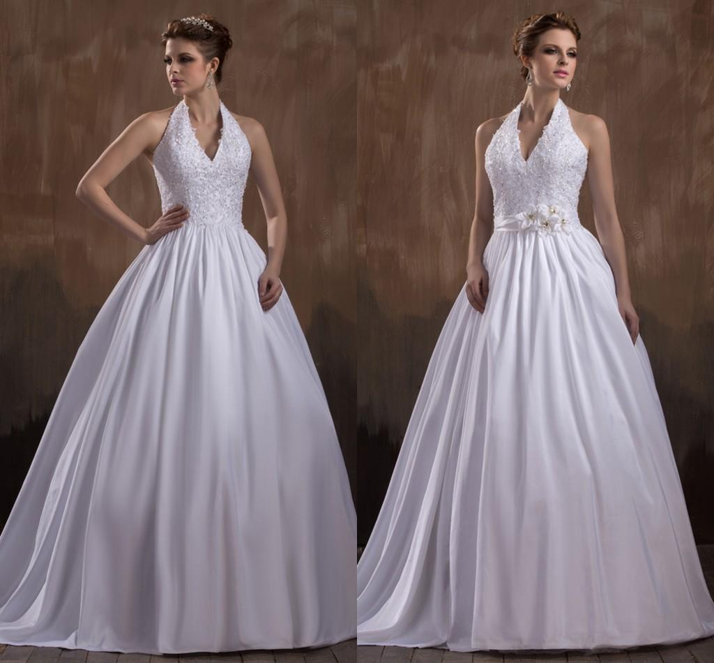 2016 New Ball Gown White Wedding Dresses With Straps Sexy