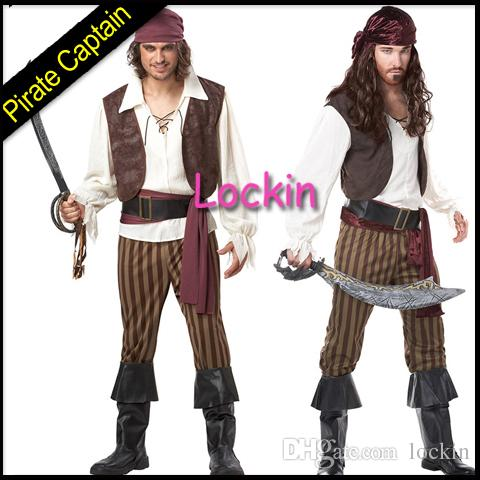 2015 New Pirates Caribbean Cosplay Costume Captain Jack Sparrow Adult Suit Halloween Performance Stage Theme Classic Character Uniform Renaissance Costumes ...  sc 1 st  DHgate.com : italian renaissance theatre costumes  - Germanpascual.Com