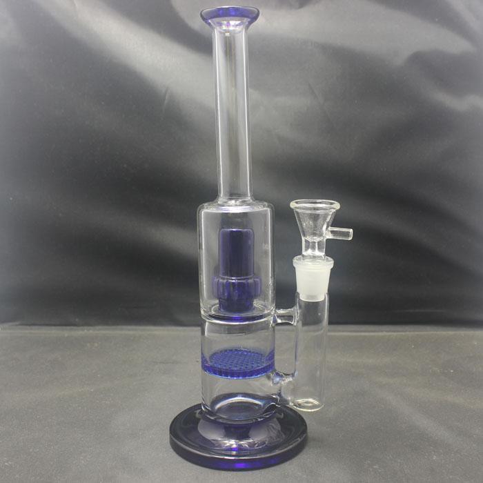 Соты Матрица Perc воды Бонг со стеклянной чашей 18 мм совместное стекло бонги для нефтяной вышке кальян