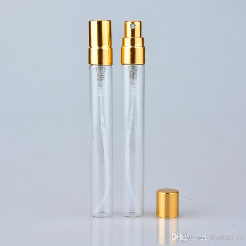 Mini 5 ML 10 ML Cam Parfüm Şişeleri Taşınabilir Doldurulabilir Koku Parfüm Şişesi Atomizer Kozmetik Konteynerler için Seyahat Parti Makyaj Aracı