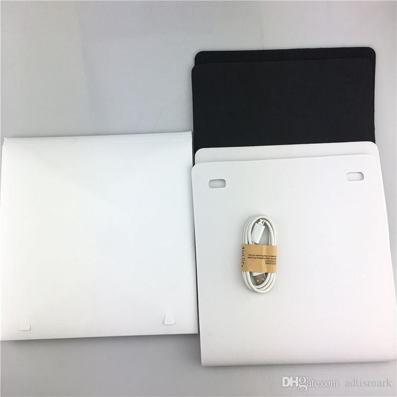 Tragbare faltbare Lightbox Fotografie Studio Softbox LED-Licht Softbox für iPhone Samsang HTC DSLR Kamera Foto Hintergrund