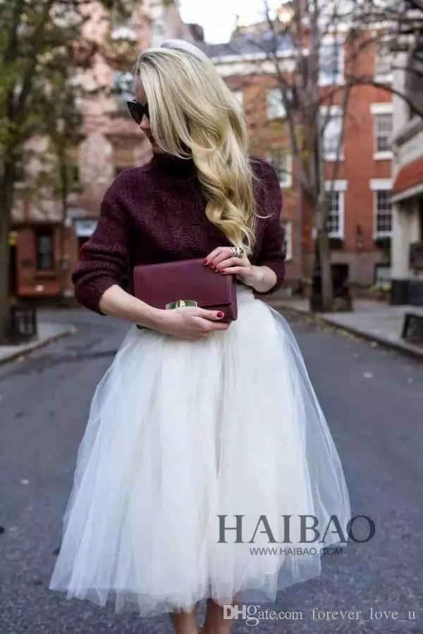 Splendido abito tutu in tulle avorio feste strati economici busto gonne gonna informale casual damigella d'onore matrimonio