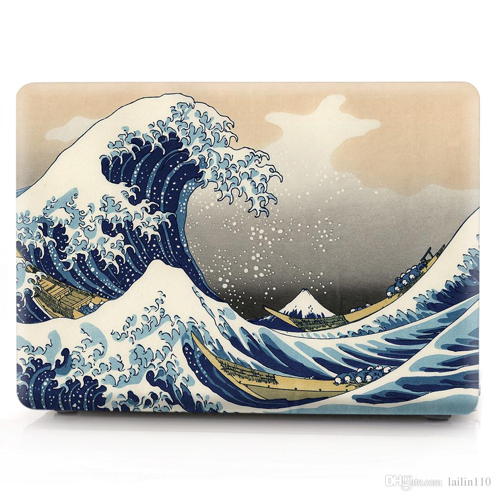 Sea-wave Oil painting Case for Apple Macbook Air 11 13 Pro Retina 12 13 15 inch Touch Bar 13 15 Laptop Cover Shell