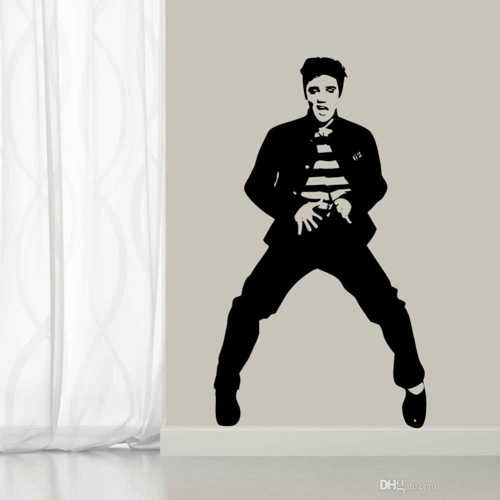 Rock And Roll Elvis Wall Decal Wallmonkeys Peel And Stick Graphic 48 In H X 37 In W Wm502577 Walmart Com Walmart Com