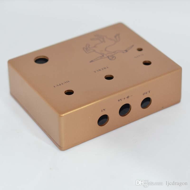 SET Diecast Aluminum Effects Pedal Project Box DIY Guitar Pedal Cover Case-Golden