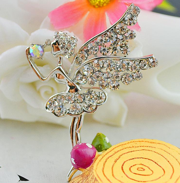 Angel brooches pin,American and European popular brooches, figure brooches,elegant fashion brooches,concise classic brooches LS040-46