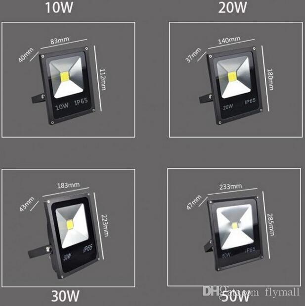 Ultra Thin schwarze wasserdichte RGB Flutlicht-10W 20W 30W 50W führte Flut-Licht 85-265V LED-Lampe im Freien Projektor Beleuchtung + Remote Cotnrol