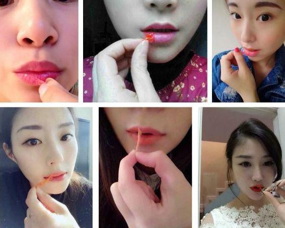 Impermeables a prueba de besos color de la mancha de brillo de labios Romántico oso Peel off máscara de larga duración labios lápiz labial maquillaje herramientas envío de la gota