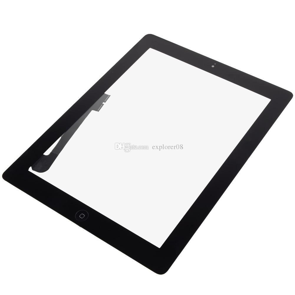 Touch Screen Glass Digitizer Assembly Replacement for Apple iPad 2 iPad 3 iPad 4 with home button + adhesive white black