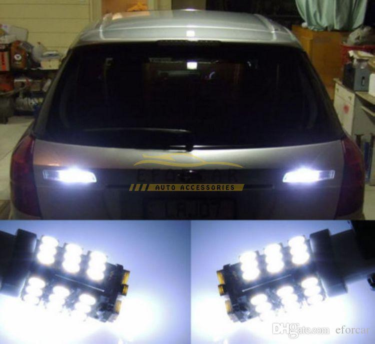 20 Pz / lotto Auto Xenon Bianco 6000 K T10 921 42-SMD 1206 LED Backup Lampadine Retromarcia spedizione gratuita