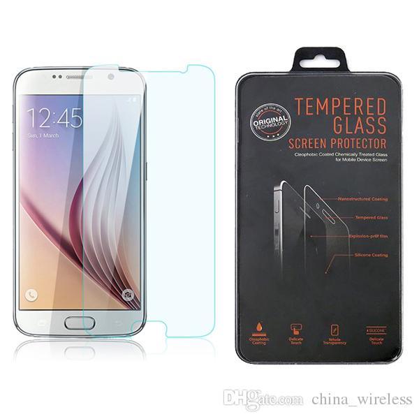 إلى Samsung Galaxy S6 Edge S4 S3 Note 4 S5 Shatterproof Clear Front خفف من الزجاج ل iphone6 iphone 6 زائد 4 4S 5 5C 5S واقي الشاشة