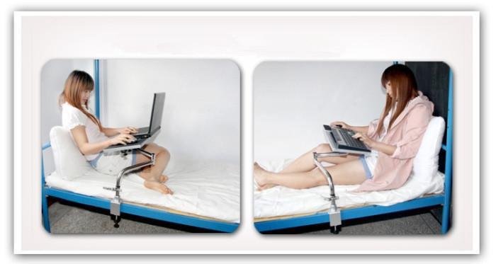 universal bedside foldable laptop desk rotary adjustable laptop stand ergonomic laptop computer mount holder cheap lazy lapdesks from huishwang