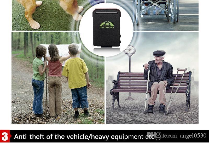 Monitoraggio audio e servizi di emergenza SOS, localizzatore GPS Originale XEXUN TK102-2 con localizzazione web gratuita Mini GPS / GSM / GPRS Car tk102-