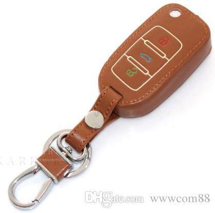 Leather Luminous Car Key Cover Case Key Protection Cover For Volkswagen VW Seat Ibiza jetta MK6 Golf POLO Passat TIGUAN Toureg