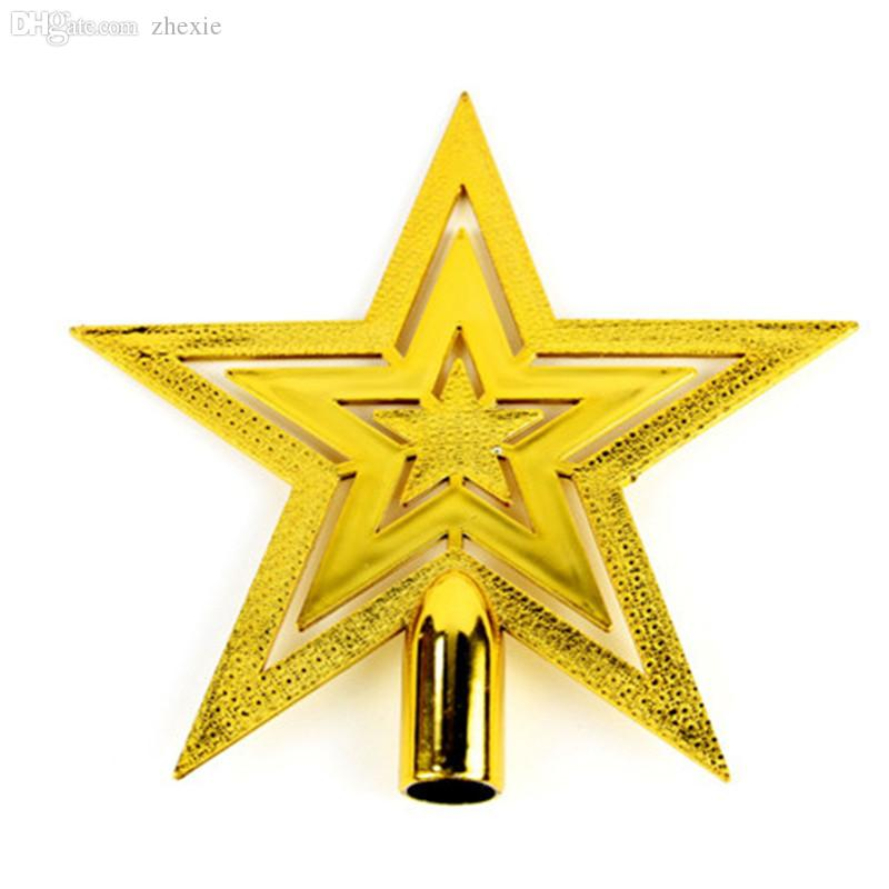 Ordinary Star For Tree Part - 4: Wholesale Christmas Tree Decor Gold Top Star Xmas Party Tree Topstar  Accessories Pentagram Decor Ornament Star Accessories L194 Christmas  Ornaments To Buy ...