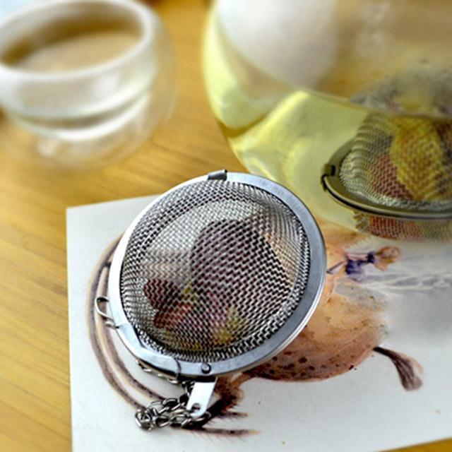 201/304 Acero Inoxidable 4.5 cm / 5.5 cm / 7 cm Filtro de Colador de Té Infusor Cuchara de Malla Bloqueo de Especias Bola para adelgazar salud Malla Té Bola