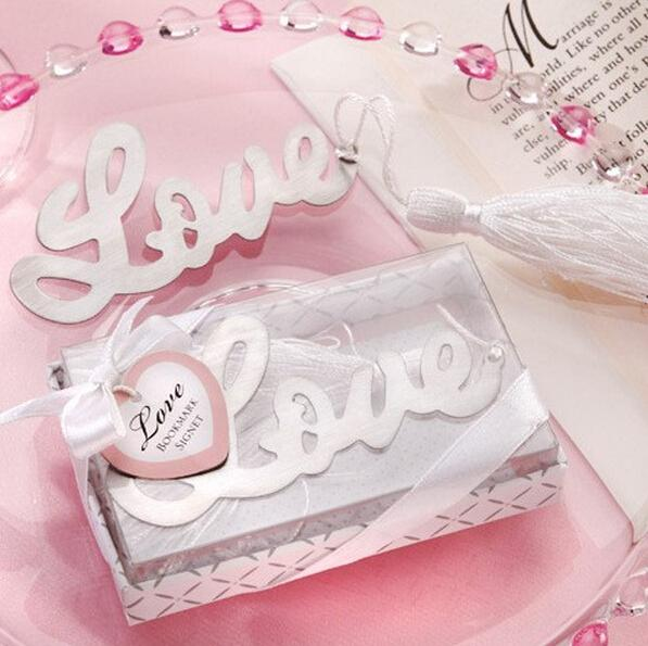 AMORE Segnalibro libri Segnalibri in metallo con nappe Matrimonio Souvenir Marcatore di libri