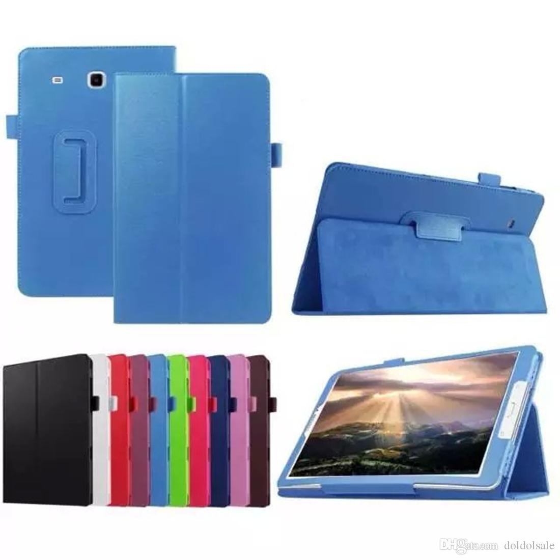 Funda de cuero PU para Samsung Galaxy Tab E 8.0 T377 T377V SM-T377 T377P Funda para tableta + Protector de pantalla Protector de película