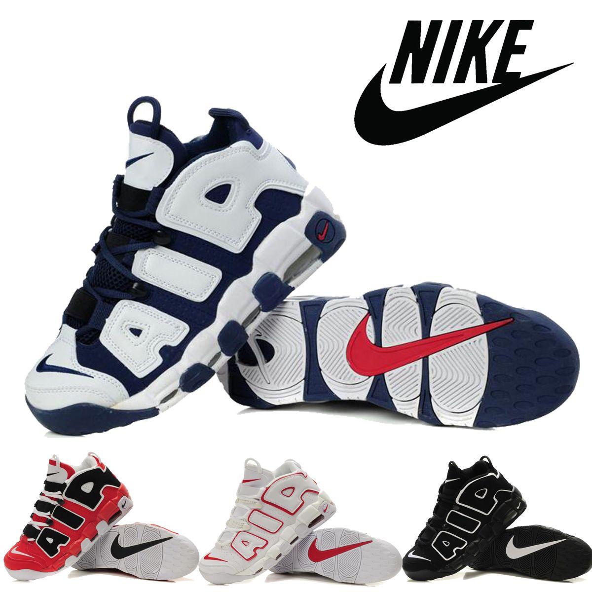 premium selection e9612 43ef7 Compre Zapatos Nike Air Más Zapatos Uptempo Baloncesto De Los Hombres Pippen  Retro Baloncesto De Los Hombres Para Hombre De Los EEUU Olímpicos Baratos  Air ...