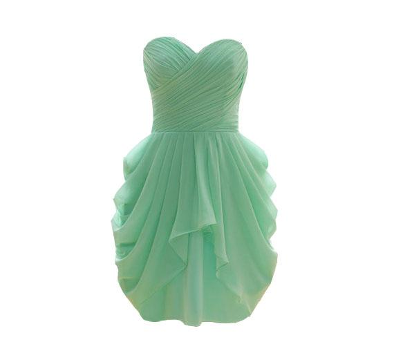 Vinoprom Real Photo A-Line Sweetheart Mint Green Chiffon Mini Women Laday Length Cocktail Party Dresses 2018