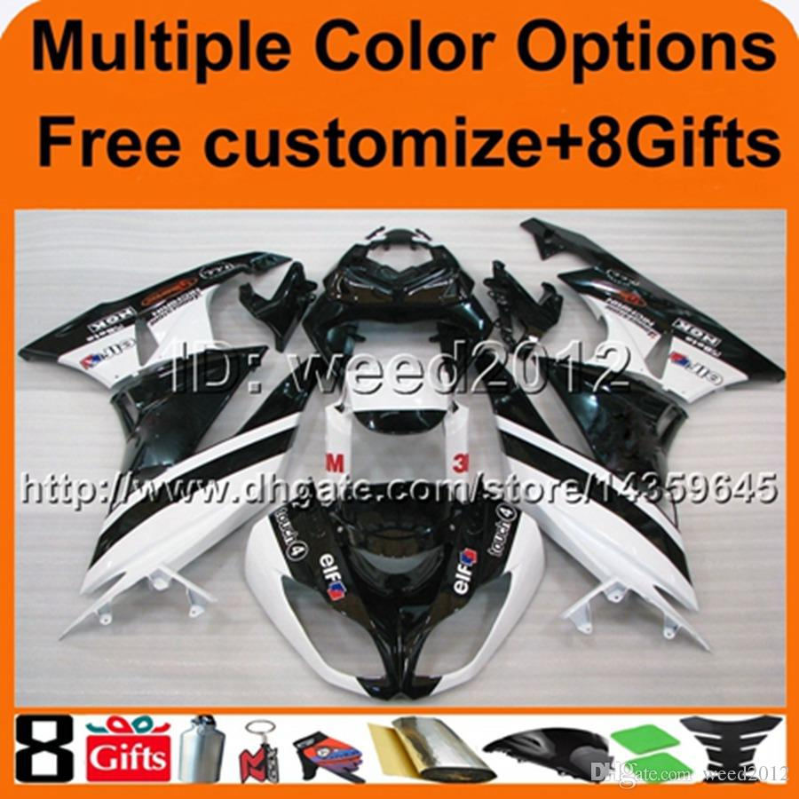 23colors+8Gifts panels white black motorcycle cowl for Kawasaki ZX6R 09-10 2009 2010 ZX6R ZX636 2009-2010 09 10 ABS Plastic Fairing kit