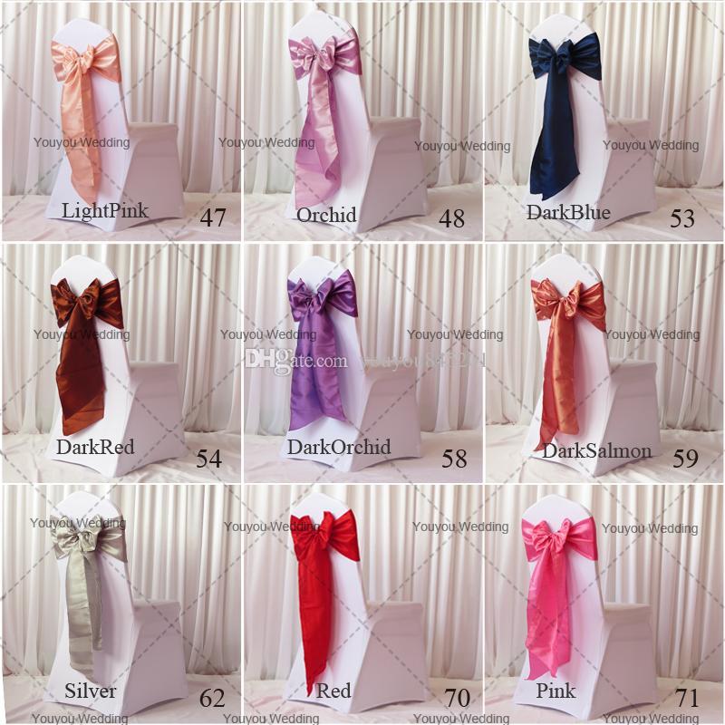 20cm W * 270cm L Lime Color Taffeta Banquet Chair Sash/Chair Tie Bow For Wedding Use