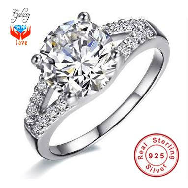 hot sale classic luxury wedding rings for women with 100 s925 silver ring top aaa cz diamond woman engagement ring zj29 from galaxyjewelry0707 - Luxury Wedding Rings