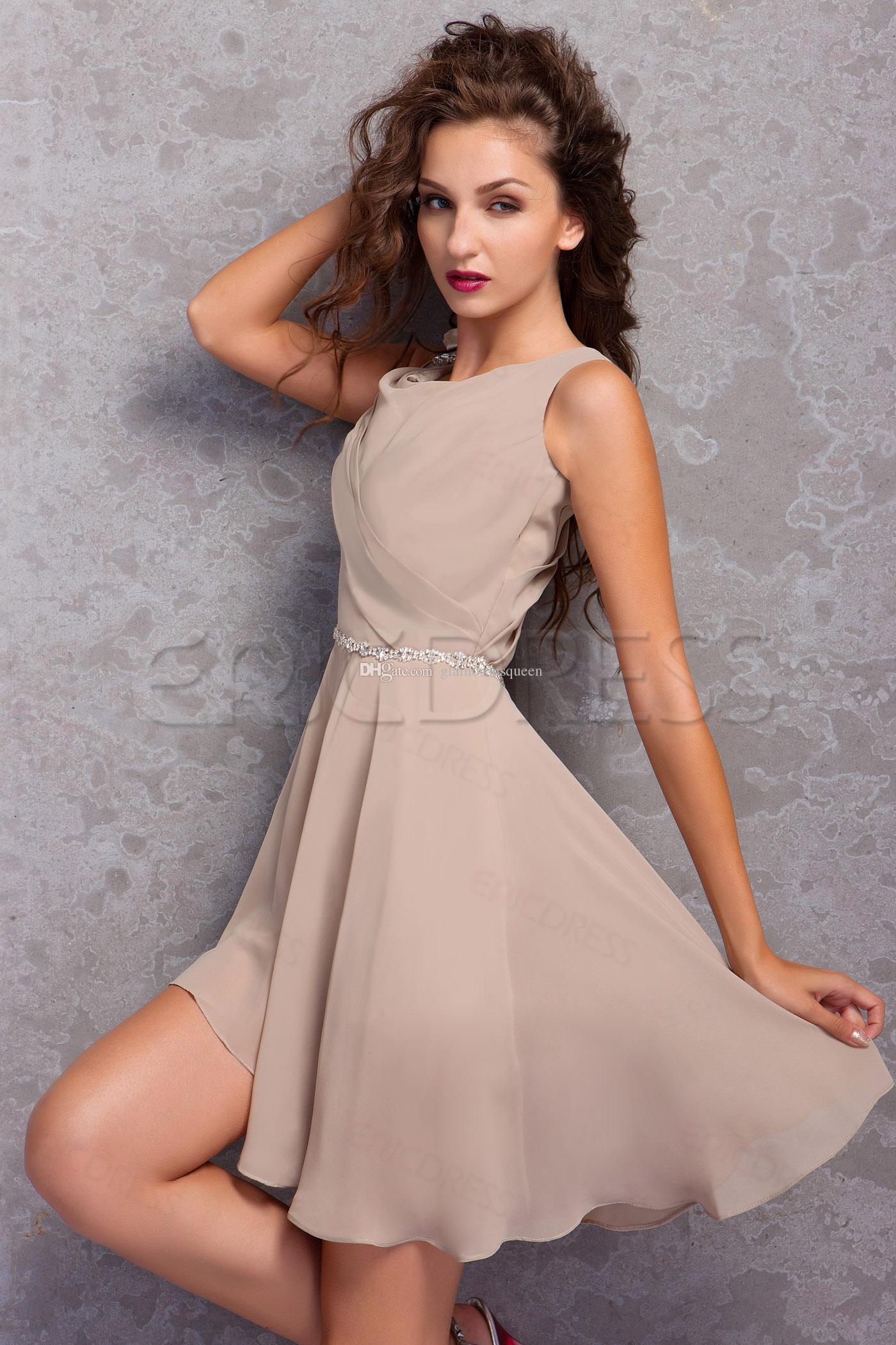 Top Sprzedaż linii spaghetti pasy asymetryczne spódnicy Sukienki do domu Krótki Szyfonowy Sukienki Krótkie Prom Cocktail