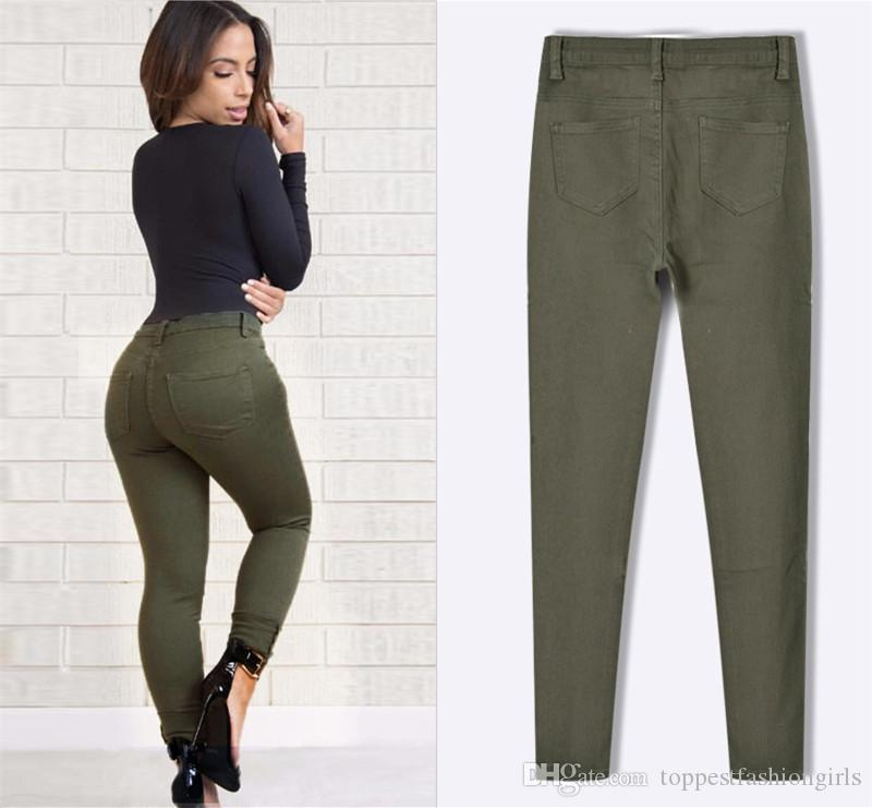 Green Plus Size Jeans