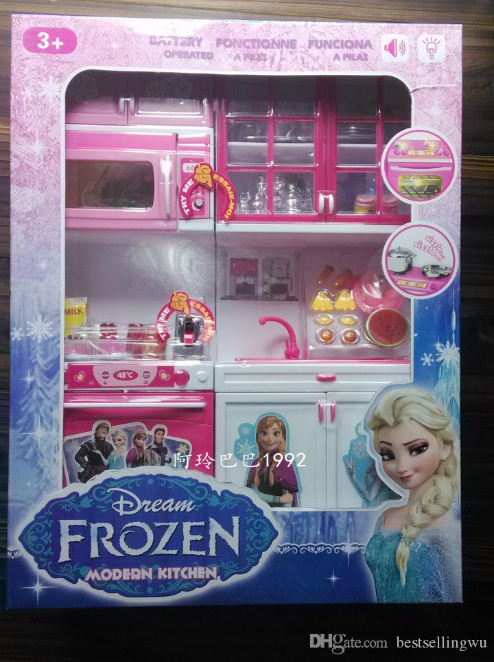 Cartoon Movie Frozen Princess Play Kitchen Mold Set Elsa Anna