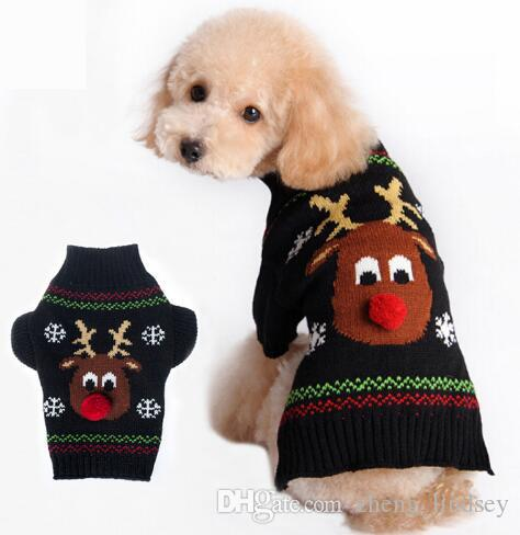New Arrival Cheap Dog Clothes Cartoon Christmas Elk Pet Dog Sweater For Small Dogs Chihuahua Yorkie XXS/XS/S/M/L/XL