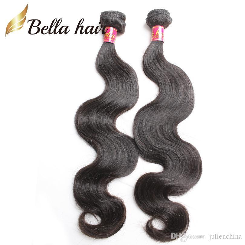 Bella Hair® 8A 바디 웨이브 번들 8-30inch 처리되지 않은 브라질 버진 인간의 머리카락 확장은 자연 색을 짜다.