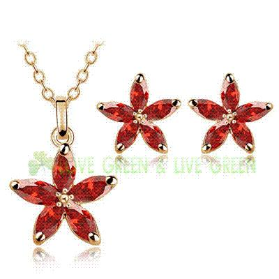 2015 party biethday gifts Austrian crystal flower star horse eye shape pendant Necklace Earrings fashion Jewelry sets 84418